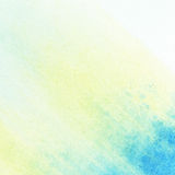Abstract watercolor background. Abstract light yellow and blue watercolor background Stock Photography