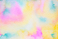 Abstract watercolor background multicolor. Abstract background, original art, watercolor painting. Paper texture with  pink, green, orange, yellow and  purple Stock Photos