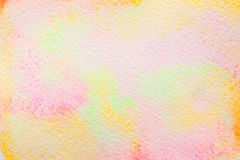 Abstract watercolor background multicolor. Abstract background, original art, watercolor painting. Paper texture with pink, orange, yellow and red stains Stock Image