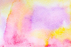 Abstract watercolor background multicolor. Abstract background, original art, watercolor painting. Paper texture pink, red, yellow, purple and orange stains Royalty Free Stock Photos