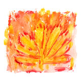 Abstract watercolor background with paint strips Stock Image