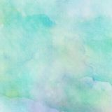 Abstract watercolor background. Abstract painted blue mixed green watercolor background royalty free stock photo