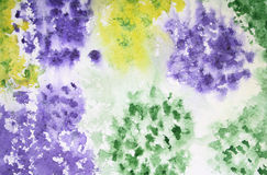 Abstract watercolor background on paper texture. Abstract watercolor background with colorful different layers on paper texture Stock Photography