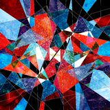 Abstract watercolor background polygon Royalty Free Stock Photography