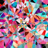 Abstract watercolor background polygon Stock Image