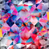 Abstract watercolor background polygon Stock Images