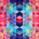 Abstract watercolor background polygon Stock Photo