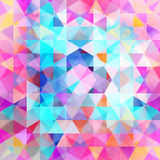 Abstract watercolor background polygon Royalty Free Stock Photos