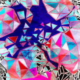 Abstract watercolor background polygon Royalty Free Stock Image