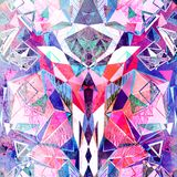 Abstract watercolor background polygon Royalty Free Stock Images