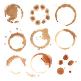 Abstract watercolor background round stains Royalty Free Stock Photos