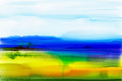 Abstract watercolor background. Semi- abstract watercolor painting landscape Stock Photography