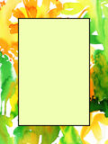 Abstract watercolor background to create a greeting card Stock Image