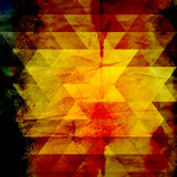 Abstract watercolor background of triangles Stock Photography