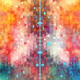 Abstract watercolor background of triangles Royalty Free Stock Photography