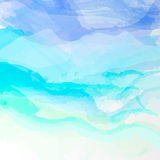 Abstract watercolor background. Abstract vector watercolor background. Colourful blue template illustration Royalty Free Stock Photography