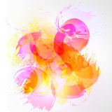 Abstract watercolor background. Abstract vector watercolor background. Colourful pink, orange template illustration Stock Images
