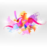Abstract watercolor background. Abstract vector watercolor background. Colourful template illustration Royalty Free Stock Image