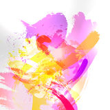 Abstract watercolor background. Abstract vector watercolor background. Colourful template illustration Stock Image