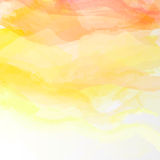 Abstract watercolor background. Abstract vector watercolor background. Colourful yellow, orange template illustration Royalty Free Stock Photography