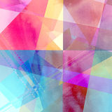 Abstract watercolor background. Watercolors of the interesting retro multicolored abstract elements Vector Illustration
