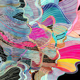 Abstract watercolor background wave Royalty Free Stock Image