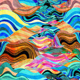 Abstract watercolor background wave Stock Images