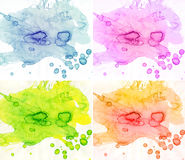 Abstract watercolor backgrounds Royalty Free Stock Images