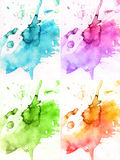 Abstract watercolor backgrounds Royalty Free Stock Photo