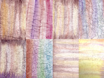 Abstract watercolor backgrounds on crumpled paper. Royalty Free Stock Photos