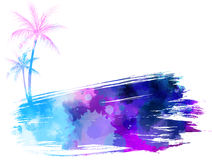 Abstract watercolor banner Royalty Free Stock Images