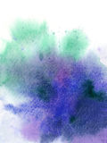 Abstract watercolor blending. On white paper . use for background Royalty Free Stock Images