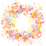 Abstract watercolor blobs background. Vector illustration Stock Photo