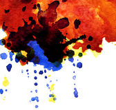 Abstract watercolor blot Stock Photo