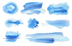 Abstract watercolor blot painted background. Texture paper. Abstract blue watercolor blot painted background. Texture paper. Isolated. Collection royalty free stock photos