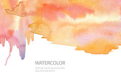 Abstract watercolor blot painted background. Texture paper. Isol. Ated. Business card template Stock Photo