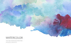 Abstract watercolor blot painted background. Texture paper. Isol. Ated. Business card template Royalty Free Stock Photography