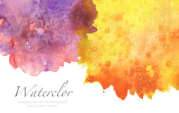 Abstract watercolor blot painted background. Texture paper. Isol. Ated. Business card template Stock Photography