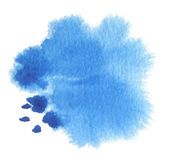 Abstract watercolor blot painted background. Texture paper. Isolated Stock Photo