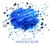 Abstract watercolor blot splash Stock Photo