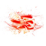 Abstract watercolor blot texture patch of red Stock Photos