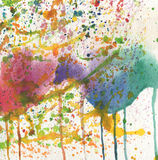 Abstract watercolor with blots Stock Images