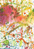 Abstract watercolor with blots Royalty Free Stock Photo