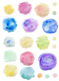 Abstract watercolor blots. Set of abstract watercolor blots for design Royalty Free Stock Image