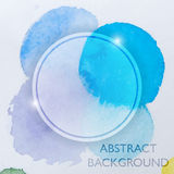 Abstract Watercolor Blue Background Stock Image