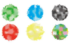 Abstract watercolor blue circle painted background. Vector. Stock Images