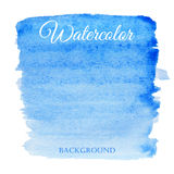 Abstract watercolor blue hand drawn background Stock Photo