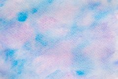 Abstract watercolor blue and purple with hand drawn. Splash Watercolour texture. Watercolor background. royalty free stock images