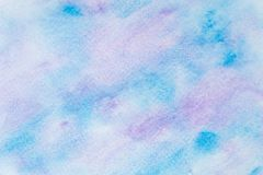Abstract watercolor blue and purple with hand drawn. Splash Watercolour texture. Watercolor background. royalty free stock photography