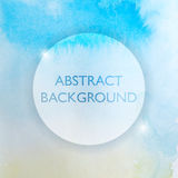 Abstract Watercolor Blue and Yellow Background Stock Photos